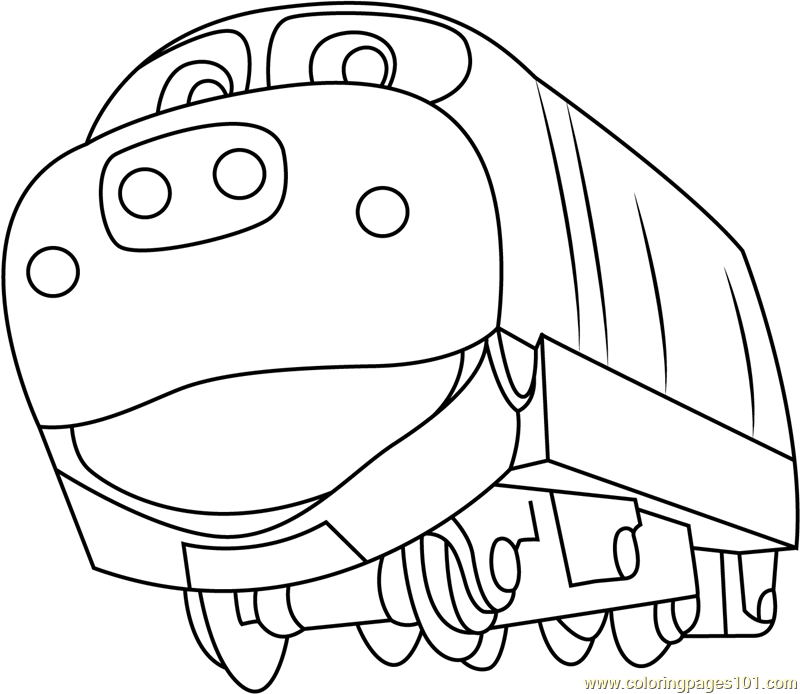 brewster coloring page free chuggington coloring pages