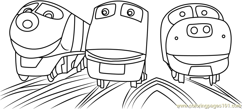 Chuggington Trains Coloring Page