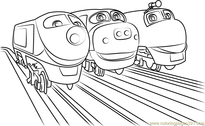 Wilson Brewster And Koko Coloring Page Free Chuggington