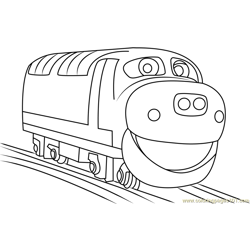 Brewster Running Free Coloring Page for Kids