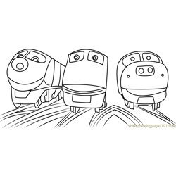 chuggington trains coloring page - Chuggington Wilson Coloring Pages