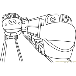 Chuggington Free Coloring Page for Kids