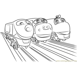 Wilson, Brewster and Koko Free Coloring Page for Kids