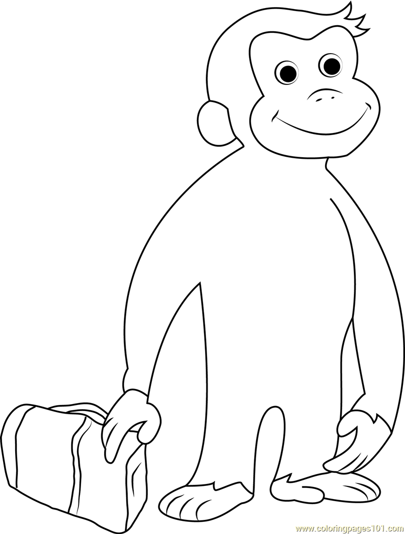 Curious George Going Coloring Page
