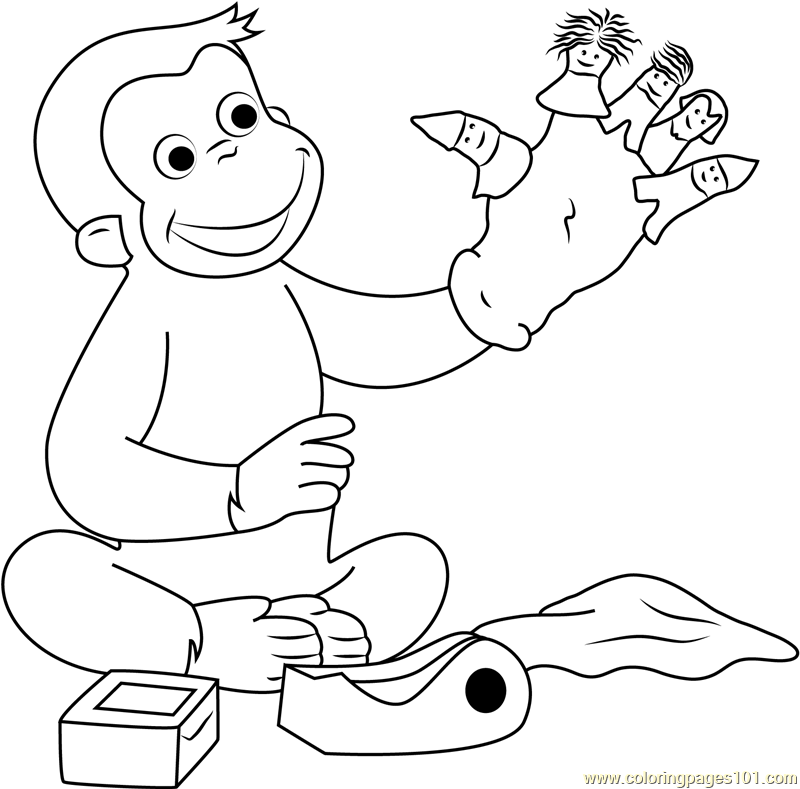 curious george coloring pages games - photo#2