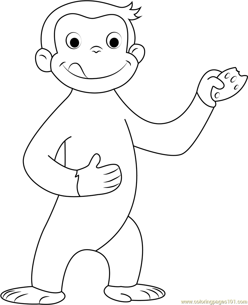 Curious George Coloring Page Free Curious George Coloring Pages