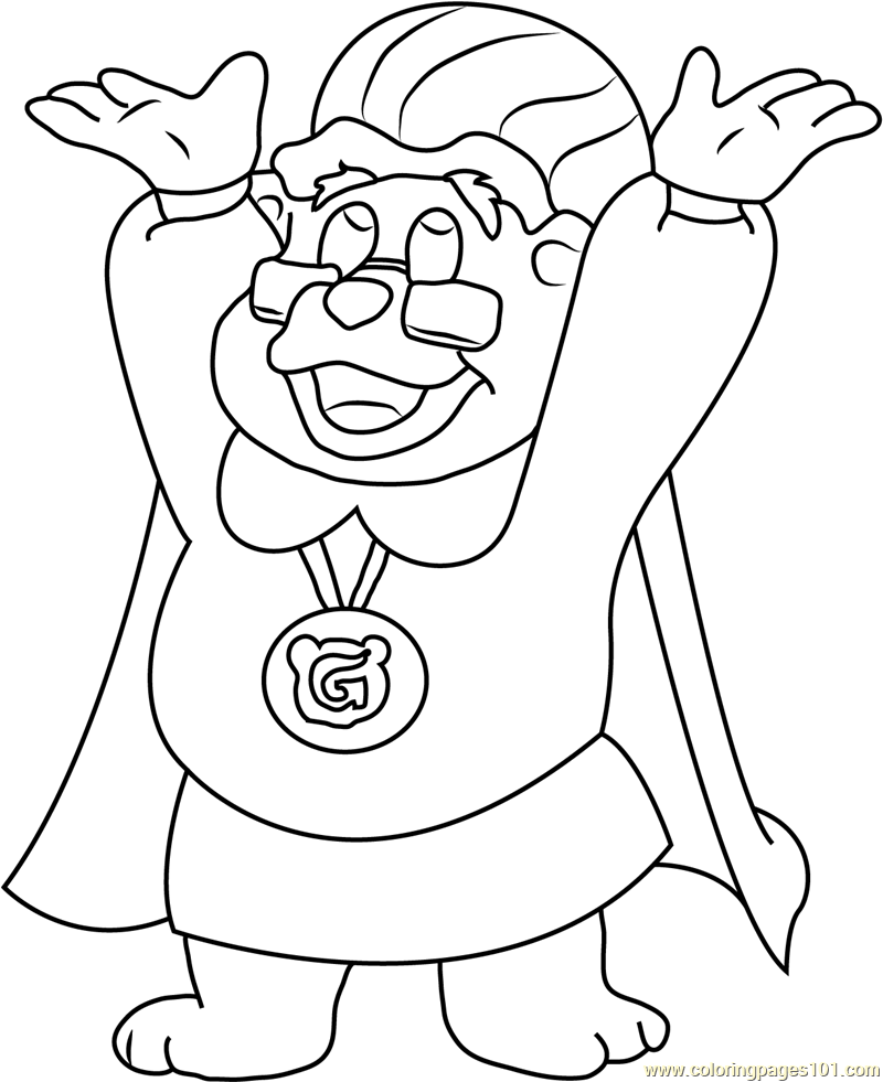 Adventures of the gummi bears coloring page free disney for Gummi bears coloring pages