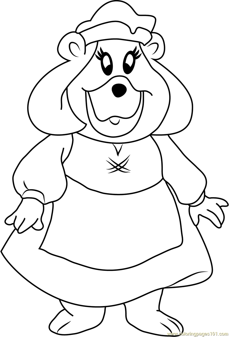 Grammi gummi looking at you coloring page free disney 39 s for Gummi bears coloring pages
