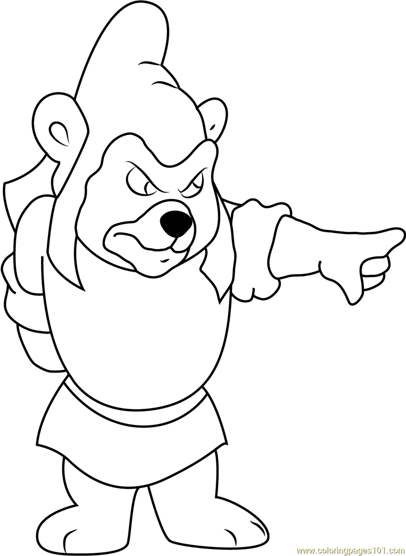 Gummy bears coloring page free disney 39 s adventures of for Gummi bears coloring pages