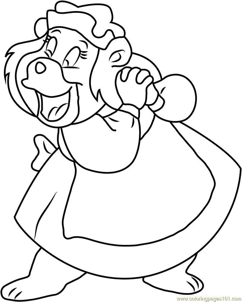 Happy Grammi Gummi Coloring Page