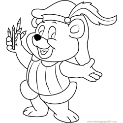 Cubbi Gummi Free Coloring Page for Kids