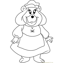Grammi Gummi Looking at You Free Coloring Page for Kids