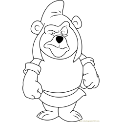 Gruffi Gummi Free Coloring Page for Kids