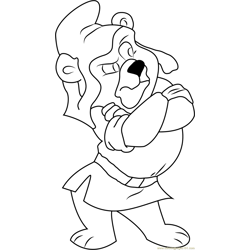 Gruffi Looking Something Free Coloring Page for Kids
