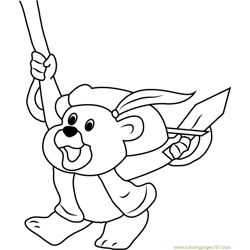 Gruffi Ready to Fight Free Coloring Page for Kids