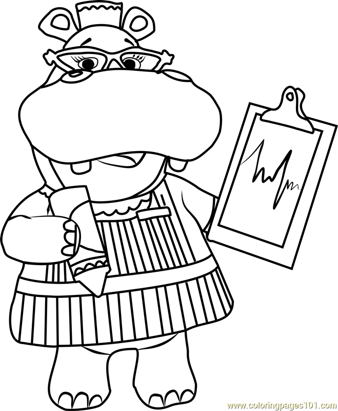 Hallie with Chart Coloring Page - Free Doc McStuffins ...