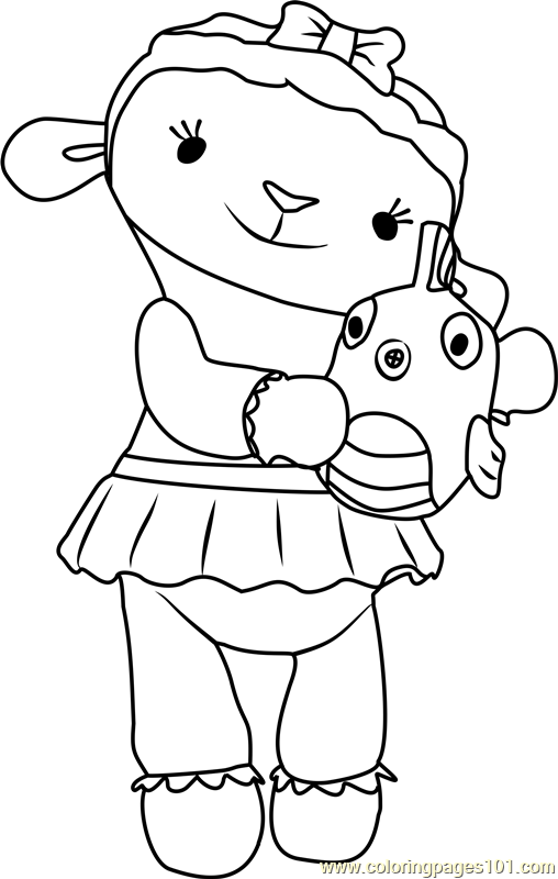 Lambie Coloring Page Free Doc Mcstuffins Coloring Pages