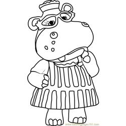Hallie McStuffins Hippo Coloring Page