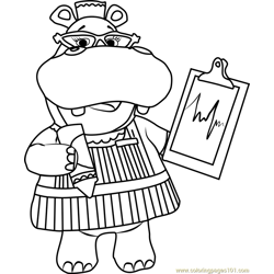 Hallie with Chart Free Coloring Page for Kids