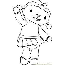 Lambie Coloring Page - Free Doc McStuffins Coloring Pages ...