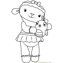 Lambie Lamb Coloring Page Free Doc Mcstuffins Coloring Pages