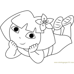 Sleeping See Free Coloring Page for Kids