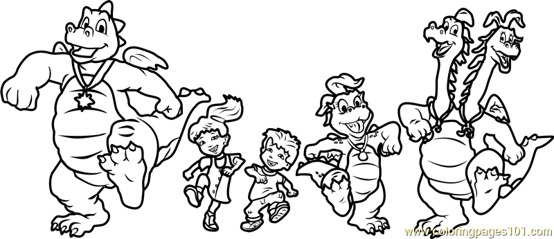 Dragon Tales Dragon Tales Coloring Page For Kids Free Dragon Tales Printable Coloring Pages Online For Kids Coloringpages101 Com Coloring Pages For Kids