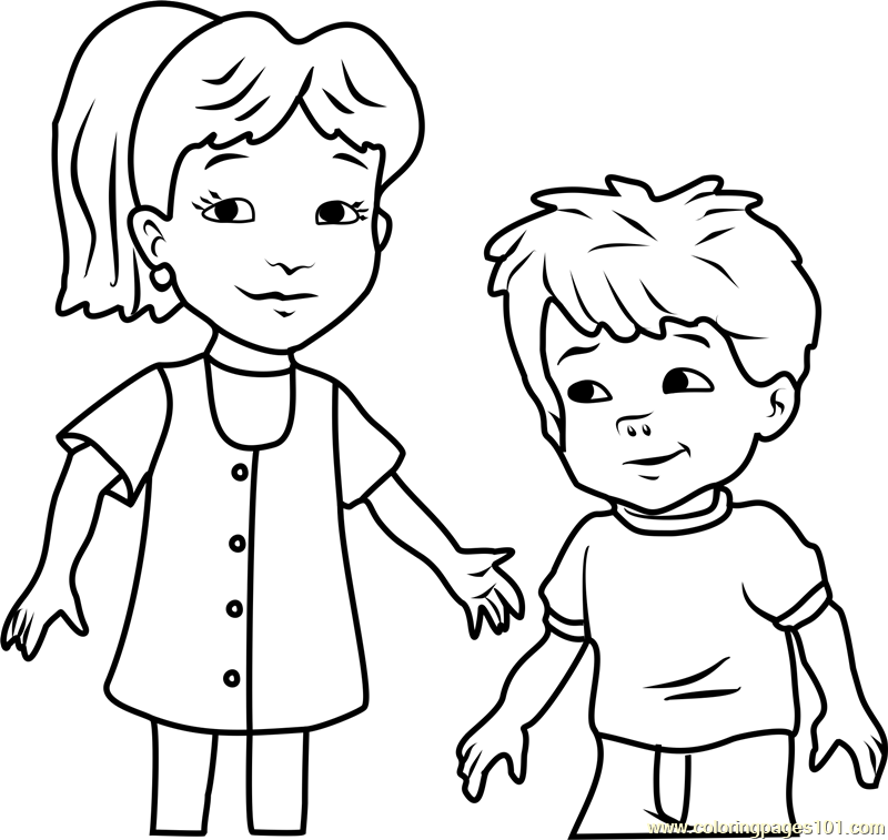 Dragon Tales Emmy and Max Coloring Page - Free Dragon Tales Coloring ...
