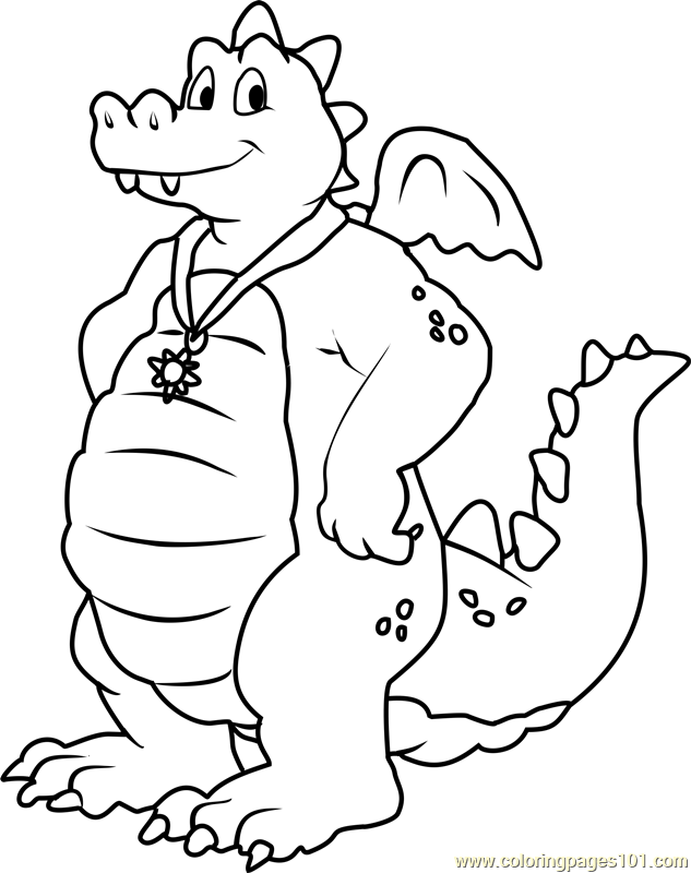 Dragon Tales Ord Blue male Dragon Coloring Page - Free Dragon Tales ...