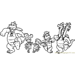 Dragon Tales Dragon Tales Free Coloring Page for Kids
