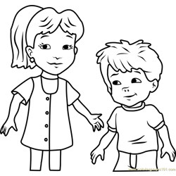 Dragon Tales Emmy and Max Free Coloring Page for Kids