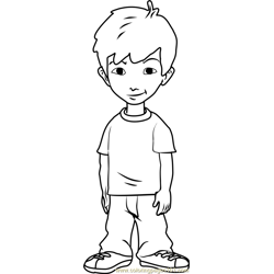 Dragon Tales Enrique Free Coloring Page for Kids