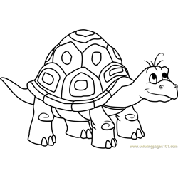 Dragon Tales Speedy the Turtle Free Coloring Page for Kids