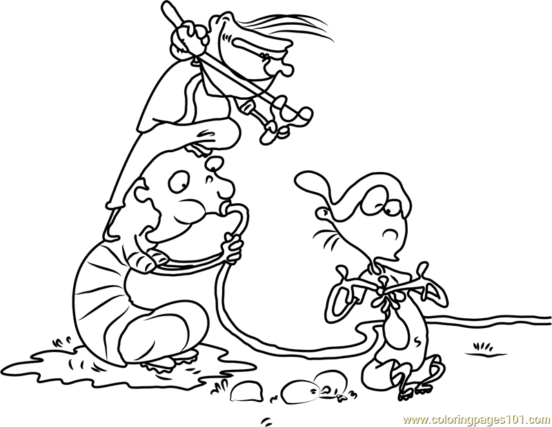 Ed Edd n Eddy Making Water Balloons Coloring Page