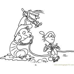 Ed Edd n Eddy Making Water Balloons Free Coloring Page for Kids