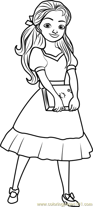 Princess Isabel Coloring Page - Free Elena of Avalor ...