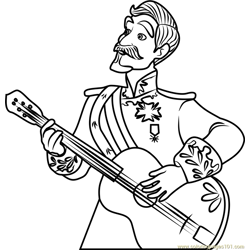Francisco Free Coloring Page for Kids