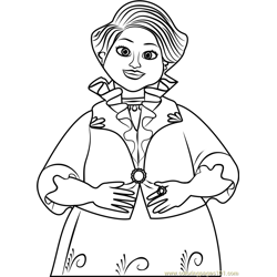 Luisa Free Coloring Page for Kids