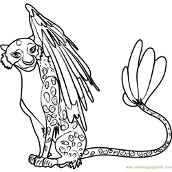 Luna Free Coloring Page for Kids