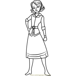Naomi Free Coloring Page for Kids