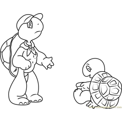 Franklin Family Free Coloring Page for Kids