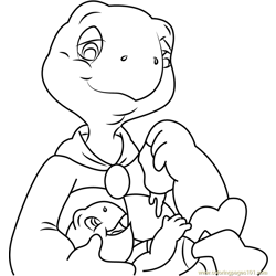 Franklin Free Coloring Page for Kids