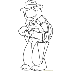 Mr. Turtle Free Coloring Page for Kids