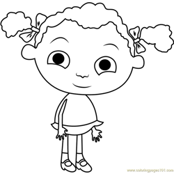 Cute Franny Free Coloring Page for Kids