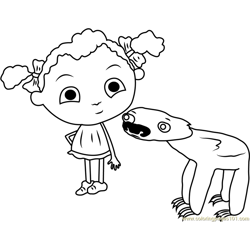 Franny Free Coloring Page for Kids