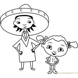 Franny's Feet Free Coloring Page for Kids