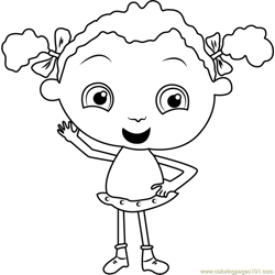 Franny's say Hii coloring page