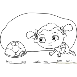 Franny's with Tortoise Free Coloring Page for Kids