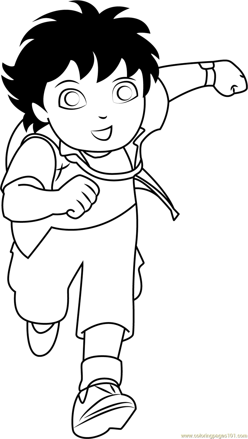 diego going coloring page free go diego go coloring