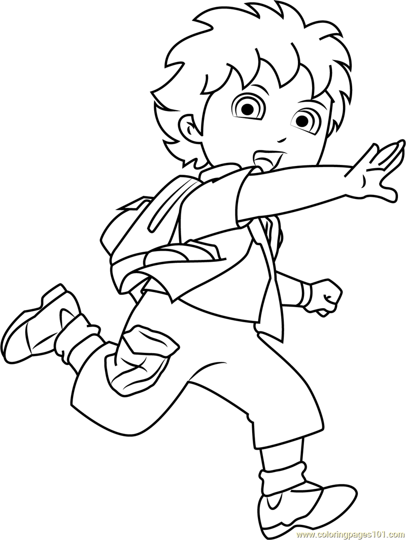 Diego showing Something Coloring Page